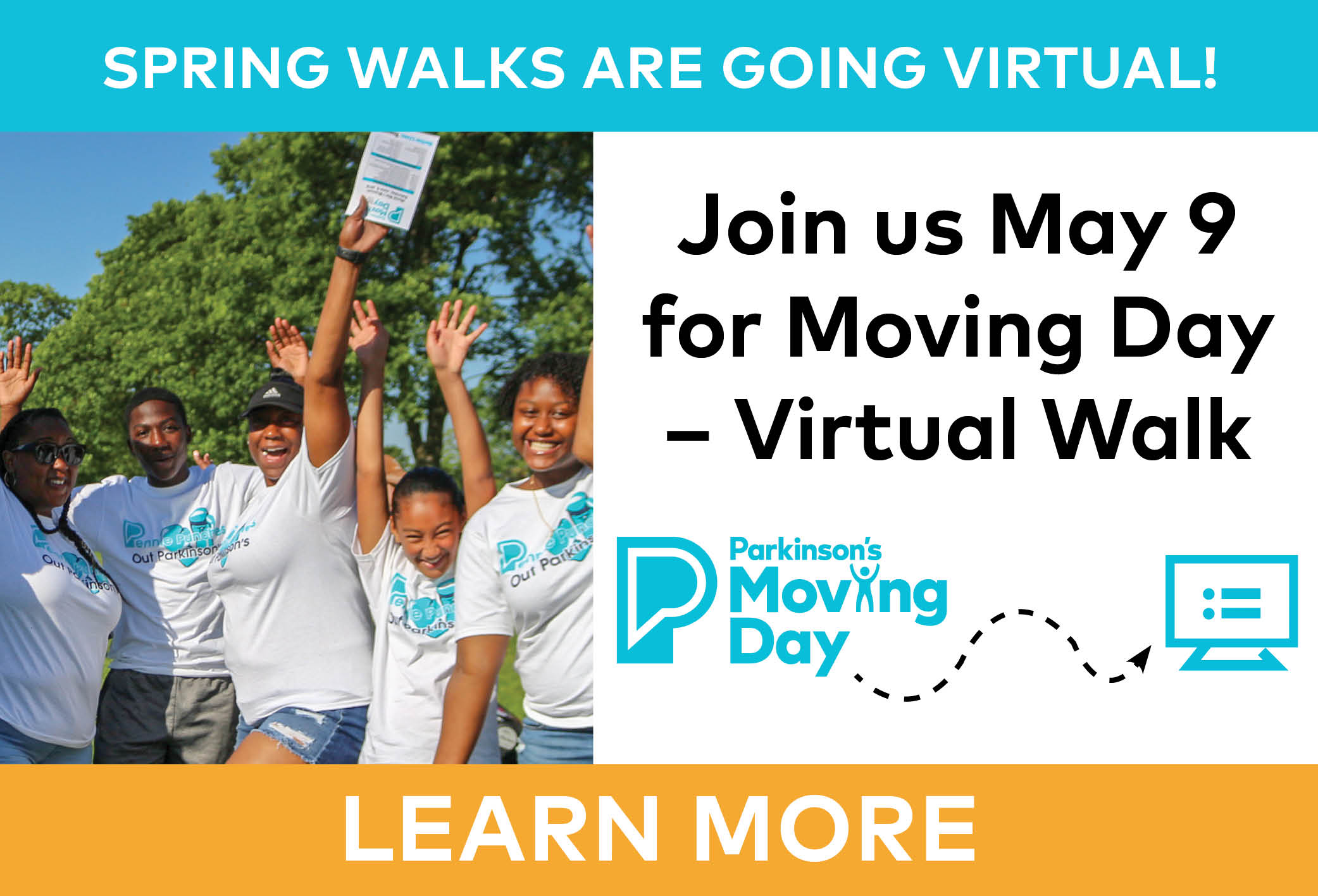 Spring walks are going virtual. Join us May 9 for Moving Day - Virtual Walk.